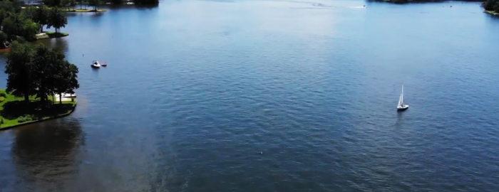 Main Lake Drone Photo, lake of the woods virginia 22508