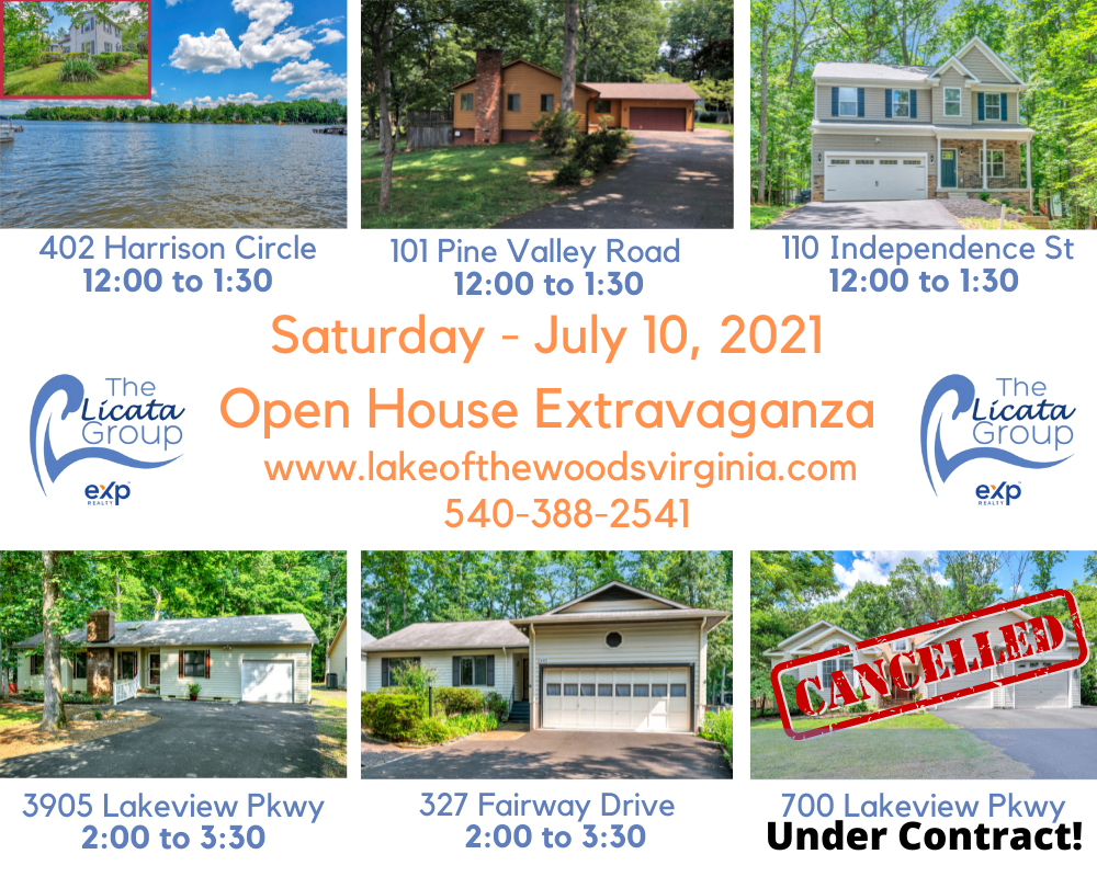 lake of the woods virginia open house extravaganza 7.10.21