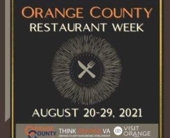 orange county virginia restaurant week